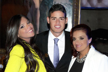 James Rodríguez mamá y hermana